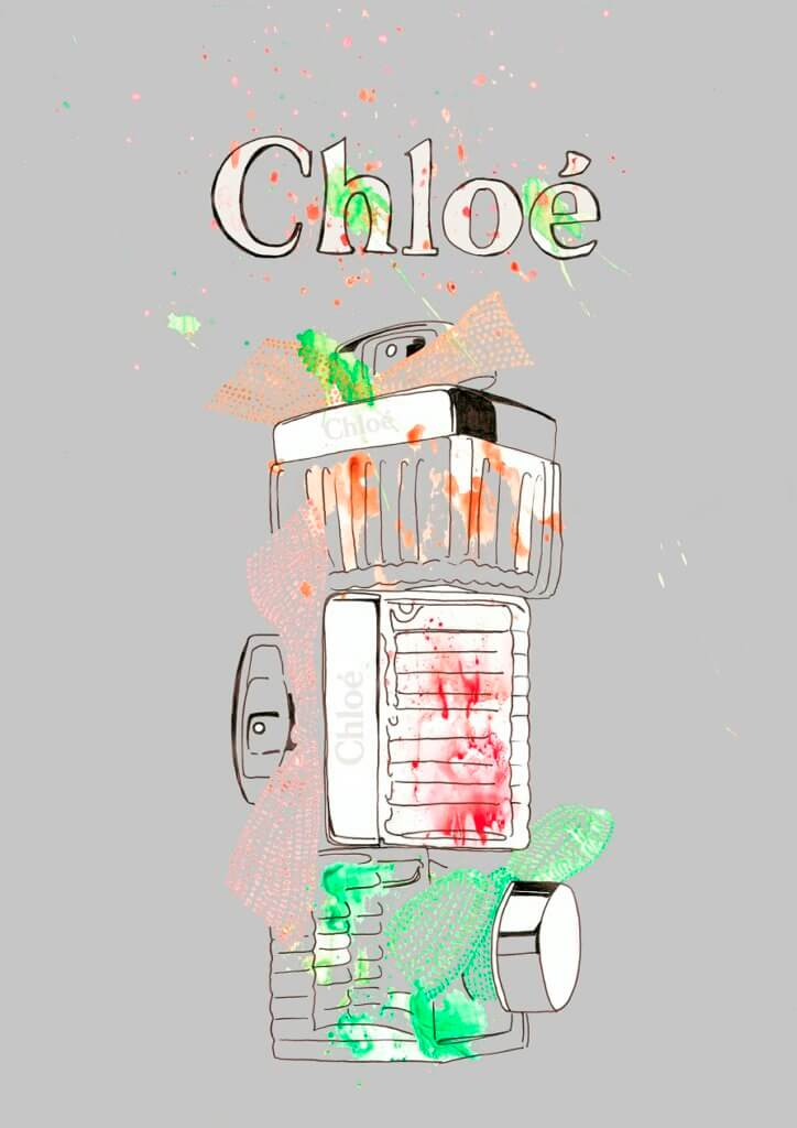Chloe trio. Markers&digital edit
