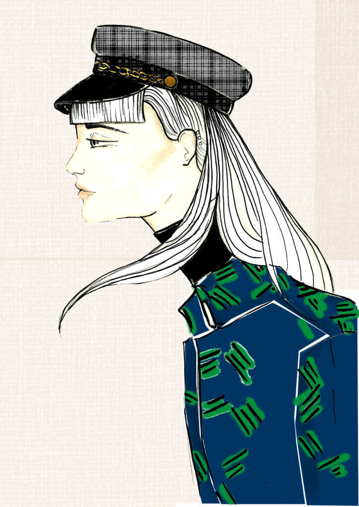 girl in peak-cap